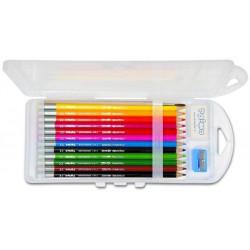 Crayon Couleur PRIMO Aquarellable  (bte de 12 + gomme + taille-C.)