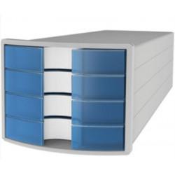 Module classement 4 tiroirs A4 HAN - 29 x 23 x 36 cm - BLEU