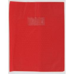 Protege-cahier PVC 15/100ème - Porte étiq. - 21 x 29.7cm - ROUGE