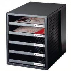 Module classement 5 tiroirs A4 HAN System Box - NOIR