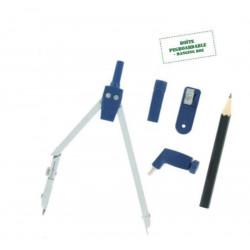 Compas à mine métal ULMANN + mine amovible (boite)