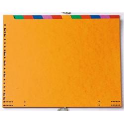 "Intercalaires carte Listing 38x12"" 12 touches 225g Couleur"