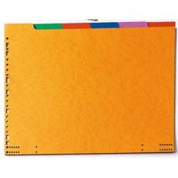 "Intercalaires carte Listing 38x12"" 06 touches 225g Couleur"