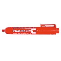 Marqueur perm. PENTEL NX60 - Biseau. 2.2 à 4.5mm - ROUGE- NX60-B