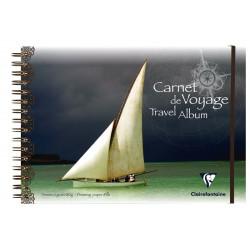Carnet de voyage Travel Album - 180gr - Couv Polypro - Elastique