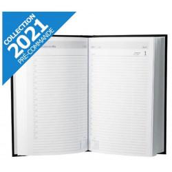 Agenda journalier 1 jour / 1 page - 14 x 21cm - NOIR - 2021