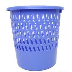 Corbeille papier en plastique ronde ajourée - 12 litres BLEU