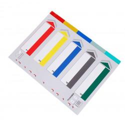 Intercalaires PVC A4 05 touches couleurs + Page d'index