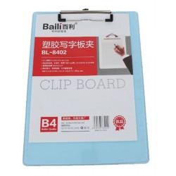 Porte Bloc A4 en PVC rigide avec Pince Forte - TRANSLUCIDE