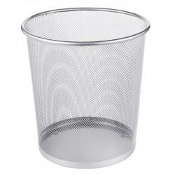 Corbeille papier en métal ronde - 13L - 26.5 x 30cm - GRISE