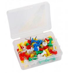 Punaises pour tableau liège - Multicolores (Boîte de 50)