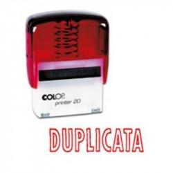 Timbre Formule DUPLICATA COLOP Printer 20 (14 x 38mm) ROUGE