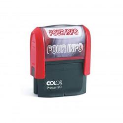 Timbre Formule POUR INFO COLOP Printer 20 (14 x 38mm) - ROUGE
