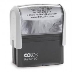 Timbre Monture COLOP Printer 60 (37 x 76mm) - 8 Lignes