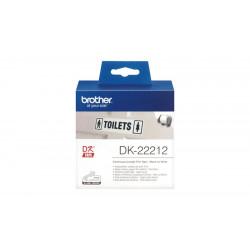 Etiquettes BROTHER DK22212 - Roul. ruban 6.2cm x 15.2m -Adhésif blanc