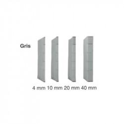 Dossier DACOTA 315 x 230mm - 320g - 1 poche soufflet  10mm - GRIS CLA