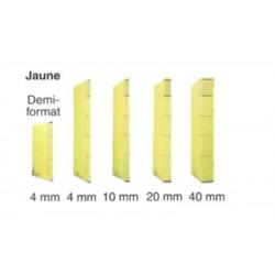 Dossier DACOTA 315 x 230mm - 320g - 1 poche plaquée  4mm - JAUNE