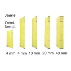 Dossier DACOTA 315 x 230mm - 320g - 1 poche soufflet  10mm - JAUNE
