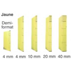 Dossier DACOTA 315 x 230mm - 320g - 1 poche soufflet  20mm - JAUNE