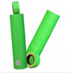 Rouleau 600 etiq. perm VERTE 1 ligne (21x12mm) pour étiq. manuelle