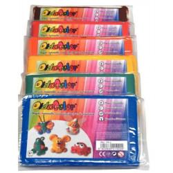 Argile Didacolor - 6 couleurs - 6 x 500g - Couleurs vives
