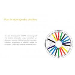 Etiquettes autocollantes unies DACOTA - 5cmx0.8cm - x6500-ORANGE -RLX