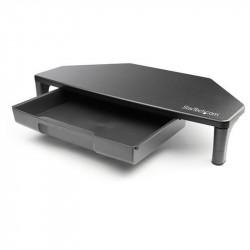 Support Ecran Noir angle avec tiroir