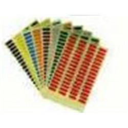 Etiquettes autocollantes num.0 FADICLASS - 6cmx0.6cm - x24 - BRIQUE