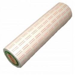 Rouleau  600 etiq. permanentes 1 ligne (21x12mm) pour étiq. manuelle