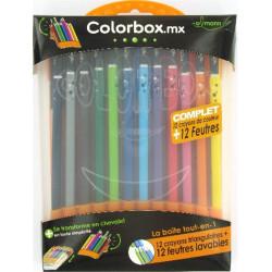 Feutre Couleur + Crayons couleur ULMANN - Chevalet COLORBOX