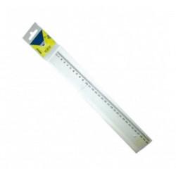 Regle Cristal incolore graduée ULMANN sans poignée - 20cm (Blister)