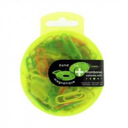 Trombones colorées (Attache-lettres) de 28mm Boîte de 100 (blister)