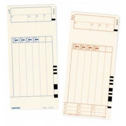 Fiche de pointage pour MX300 AMANO (Paquet de 100 fiches)
