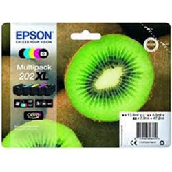 Cart EPSON - 202XL - Kiwi - Pack noir+couleurs - XP-6000-6100