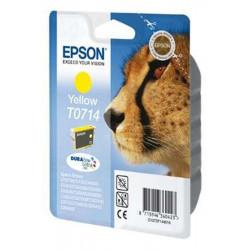 Cart EPSON - T0714 - Guépard - Jaune D78/D92/D120/DX4x50/5050/6050/70