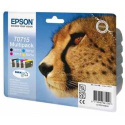 Cart EPSON - T0715 - Guépard - Pack noir+couleurs