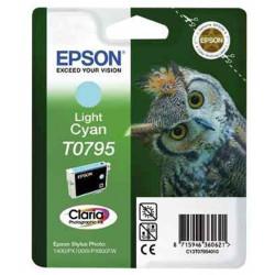 Cart EPSON - T0795 - Chouette - Cyan clair - SP1400 / P50 / PX700W /