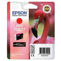 Cart EPSON - T0877 - Flamand - Rouge UltraChrome HiGloss Stylus Photo