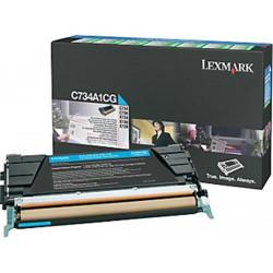 Toner LEXMARK - C734A1CG - Cyan - Optra C734 (6 000 pages) **