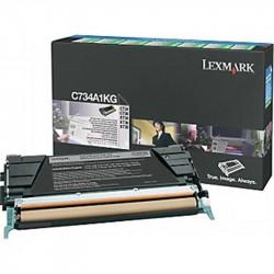 Toner LEXMARK - C734A1KG - Noir - Optra C734 (8 000 pages) **