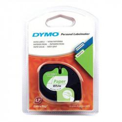 Ruban DYMO LETRATAG - 12mm Noir/Blanc pour titreuse - 91201/221 (4m)