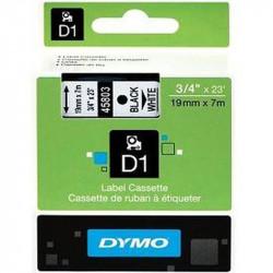 Ruban DYMO D1 - 19mm Noir/Blanc pour titreuse - 45803 (7 m)