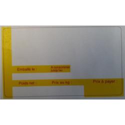 Rouleau etiq. therm Ext. (dim: 47 x 82mm)   750 etiq. BLANC/JAUNE