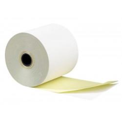Rouleau papier 2 plis autocopiant blanc/jaune (dim: 57 x 70 x 12