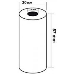 Rouleau papier thermique (dim: 57 x 30 x 12mm) -  5 mètres (TPE)