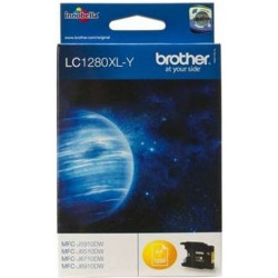 Cart BROTHER - LC1280Y XL - Jaune - MFC5910/6510/6710/6910