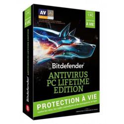 BITDEFENDER Antivirus PC Lifetime Edition 2018 - 1 poste
