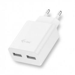 Adaptateur USB double prise 220V EU - 2.4 ampères