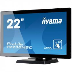 "Moniteur tactile 22"" LCD IIYAMA T2236MSC-B2 DVI/VGA/HDMI"