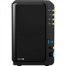 NAS SYNOLOGY DS216+ 2BAY 1.6 GHZ DC 1XGBE 1XUSB 3.0 2XUSB 1XESATA IN